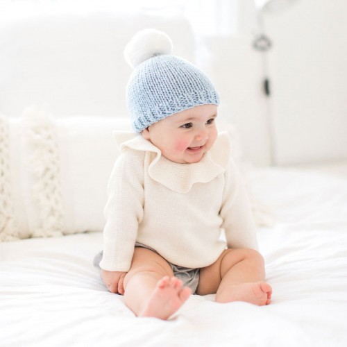 Stitch and Story - Baby fur pom hat knitting kit