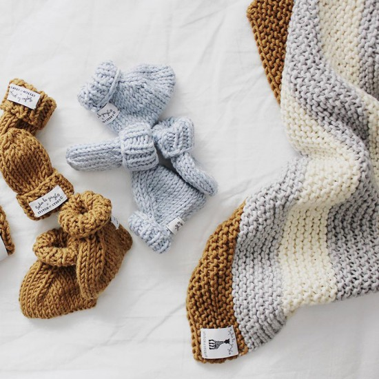 Stitch and Story -  Mini mittens and booties