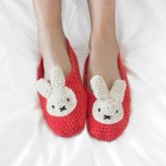 Stitch and Story -  Miffy slippers crochet set