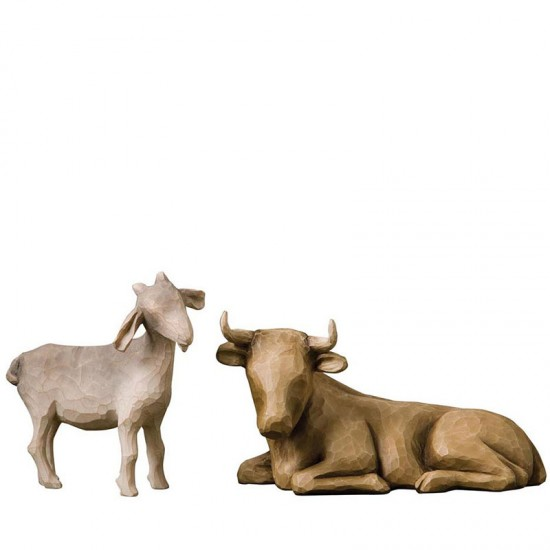Nativity Ox and goat
